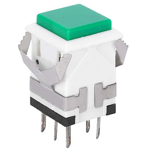 Interruptor de botón pulsador momentáneo de 50 piezas, interruptor de reinicio automático...