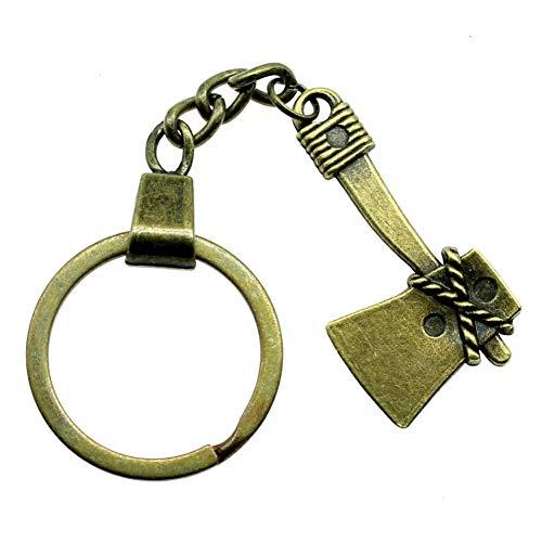 TAOZIAA Vintage Axe sleutelhanger bijl sleutelhanger bijl sleutelring heren cadeau product mode sieraden