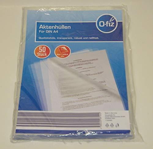 VDP Aktenhüllen DIN A4 transparent robust reißfest aus Qualitätsfolie 50 Stück