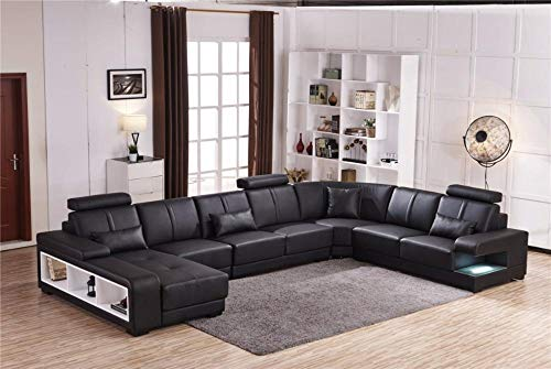My Aashis Luxury Sectional Sofa Design U Shape 7 Seater Lounge Couch Corner Sofa