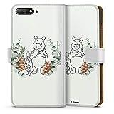 Étui Compatible avec Huawei Y6 2018 Étui Folio Étui magnétique Disney Winnie l'ourson Porcinet...