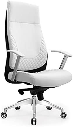 木氏帝王  人体工学椅  老板椅  升降经理椅 可躺大班椅  家用电脑椅  职员办公椅  白色 CKF-5003 (高背优质西皮)