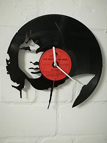 Reloj de pared de disco de vinilo reloj con motivo Jim Morrison The Doors upcycling diseño reloj decoración de pared reloj vintage decoración de pared reloj retro