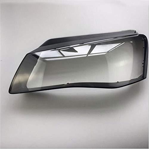 Qgg Auto-Scheinwerfer Glasmaske Lampshade transparente Gehäuse Lampe Objektiv Lampe Objektiv Shell Cover Fit for Audi A8 2011-2013 FF Scheinwerferabdeckung (Color : Left)