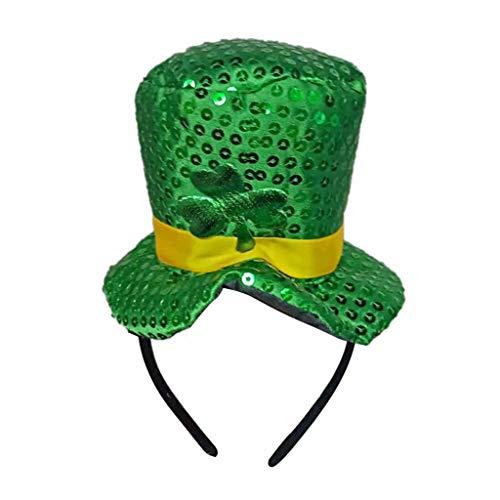 VJGOAL St. Patrick's Day hoed, dames heren unisex party performer groen vierbladige klaverblad hoofd accessoires familie vriend cadeau