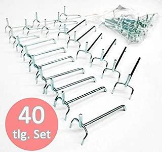 vitaerc Tres/ 120/x 60/x 1,5/cm aprox /Panel perforado para herramientas de metal con 17/piezas Ganchos Set