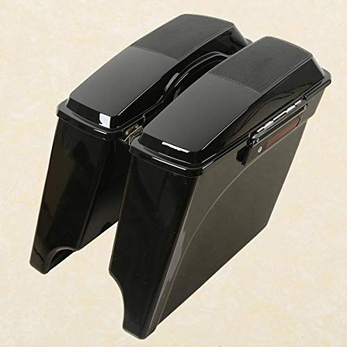 Check Out This TCMT 5 Stretched Extended Saddlebags 6X9 Speaker Lid lacthes Fits For 93-13 Harley ...