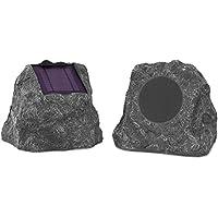 2-Pack Innovative Technology 10-Watt Solar Charging Bluetooth Outdoor Rock Speakers
