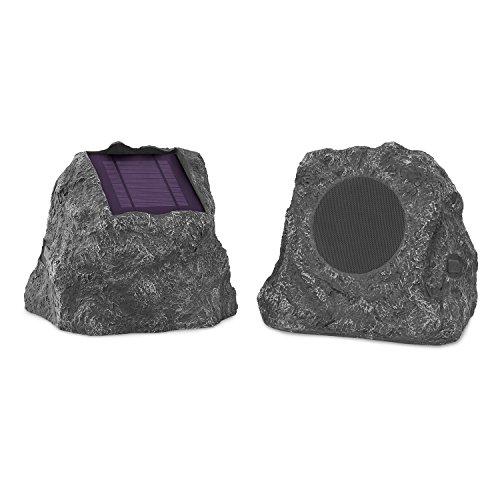Innovative Technology Outdoor Rock Speaker Pair - Wireless Bluetooth Speakers for Garden,...
