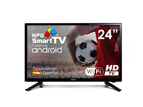 "Televisor LED 24"" HD NPG Smart TV Android PVR WiFi DVB-T2 H.265 Quad Core"