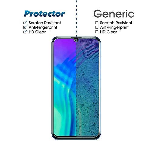 Widamin 2Pack, Panzerglas Schutzfolie für Honor 20 Lite, Displayschutzfolie, Hohe Auflösung Glas, [9H Härte], [Crystal Clearity], [No-Bubble] Compatible für Huawei Honor 20 Lite - 6