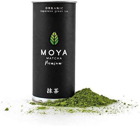 Organic Moya Matcha Tea Green Powder | 30g Premium Ceremonial Grade (I) | Grown & Harvested in Uji, Japan | Perfect for The Traditional Japanese Tea Ceremony with Water | Vegan & Vegetarian Friendly