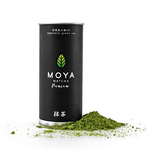 Bio Moya Matcha Tee Pulver Grün | 30g Premium Zeremonie-Qualität | I Klasse | Organisch Gewachsen und Geerntet in Uji,Japan | Grüntee-Pulver Matcha | Ideal für die japanische Teezeremonie mit Wasser