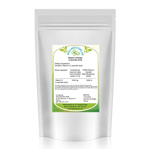 Vitamin C Powder 1kg L-ascorbic Acid from Wellnesstore.UK