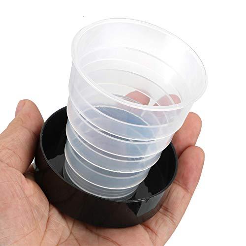 LIANYG Tragbarer Kunststoff-Klappbecher Wassertrinkende Teetasse Einziehbare teleskopisch zusammenklappbare Becher für Sportreisen im Freien