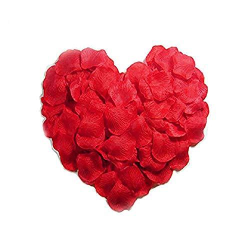 Sprießen 3000pcs Petali di Rosa,Petali di Rosa Finti Coriandoli, Petali di Seta per Decorazione di Matrimonio, Decorazioni di San Valentino, Proposta di Matrimonio(Rosso)