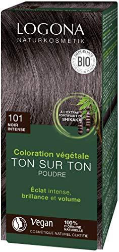 Soin colorant 100% végétal bio noir Intense