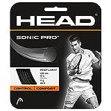HEAD Unisex-Erwachsene Sonic Pro Set Tennis-Saite, Black, 17