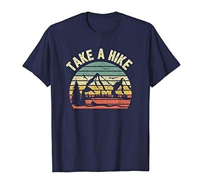 Take A Hike Shirt Retro Hiker Outdoors Camping Nature Hiking T-Shirt