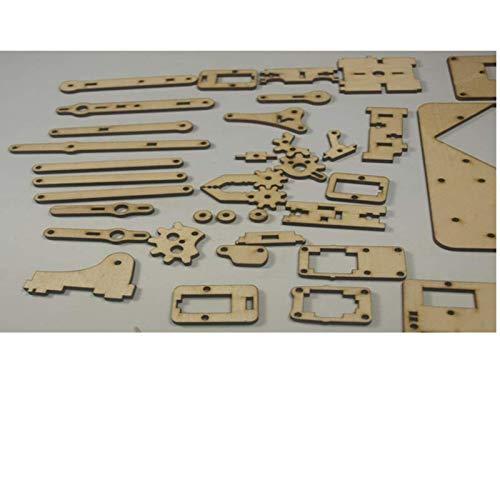 DIY MeArm - Your Robot - v1.0 kit de madera cortado con láser/juego robot de brazo de tamaño bolsillo de 3 mm de grosor