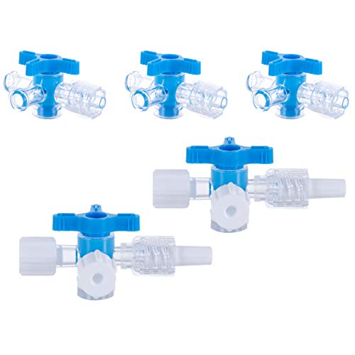 ToToT 5pcs Disposable Medical Three Way Valve 3-Way Stopcocks with Aseptic Cock for School Projects, Hobbies DIY Experimental Research Projects
