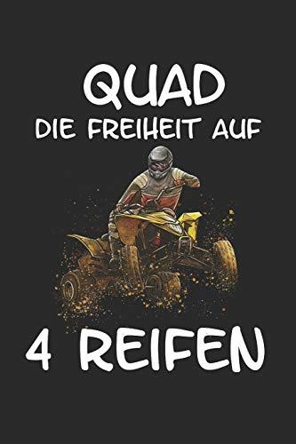 Quad Die Freiheit auf 4 Reifen: Quad Offroad Motorsport Lustig Geschenk Notizbuch