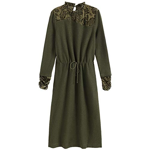 BINGQZ Cocktail Jurken Dress vrouwen winter dames temperament over de knie lange rok herfst en winter neem de onderste rok