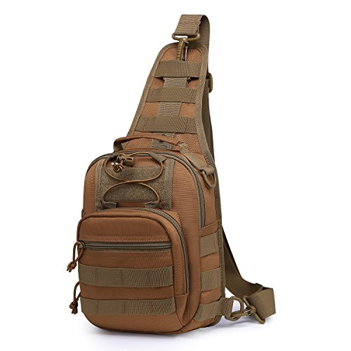Wind Took Shoulder Bags Crossbody Bag Tactical Sling Backpack Chest Bag Multipurpose Daypack for Hiking Cycling Camping