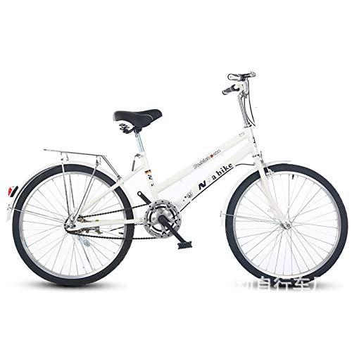 XUELIAIKEE Adulto Bicicleta Beach Cruiser con Cestas,Clásico Beach Cruiser Bike para Las Mujeres Bicicleta De Montaña Bicicleta Freestyle para El Ocio Picnics Compras-A Velocidad única De 24 Pulgadas