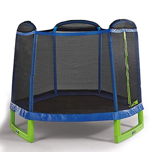 7ft Kids Trampoline en Veiligheid Behuizing Net & Lente Pad, Outdoor Ronde Bounce Jumper 84