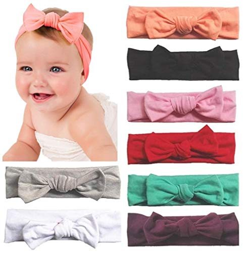 Product Image of the Toptim Baby Headbands Turban Knotted, Girl's Hairbands for Newborn,Toddler and...