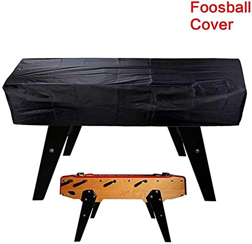 paletur0 Tischfußball Tisch Wasserfest Staubschutzhaube, Schwarz 420D Oxford 163 x115x48cm Rechteckig Patio Kaffee Stuhl Billiard Fußball Abdeckung - Schwarz, Free Size
