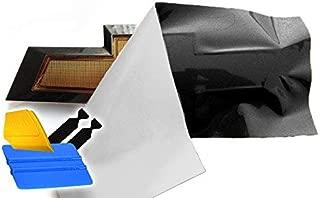 VViViD XPO Gloss Black Chevy Bowtie Logo Wrap Kit (4 Rolls (11.8 Inch x 4 Inch) + 3M Toolkit)
