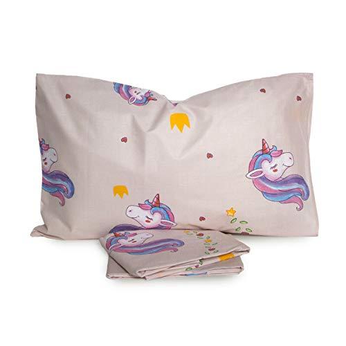 NOVIA Completo Lenzuola Unicorno Singolo Una Piazza V421 Rosa