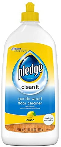 Pledge Floor Gloss Liquid, Sealed Wood Protector, Removes Dirt, Polish To Help Keep Floors Shiny, Original Scent, 27 fl oz
