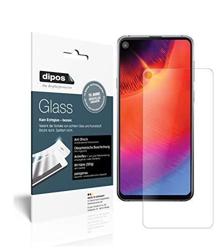 dipos I 2X Panzerfolie matt kompatibel mit Samsung Galaxy A8s Schutzfolie 9H Bildschirmschutz-Folie (1x Vorderseite + 1x Rückseite)