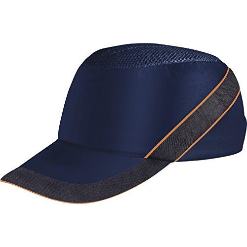 Deltaplus COLTAAIBM Anstoßkappe Baseball-Stil, Marineblau-Orange, Größe Einstellbar- long peak