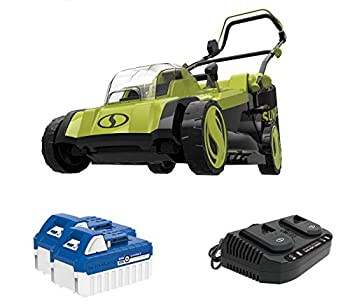 Sun Joe 24V-X2-17LM 48-Volt 17-Inch Mulching Walk-Behind Lawn Mower w/11-Gallon Grass Catcher & 6-Position Height Adjustment Included Kit  w/ 2X 4.0-Ah Battery and Charger