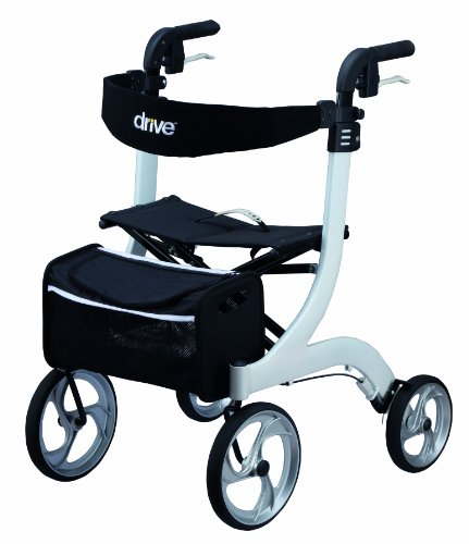 Drive Medical maat M, rollator Nitro, wit