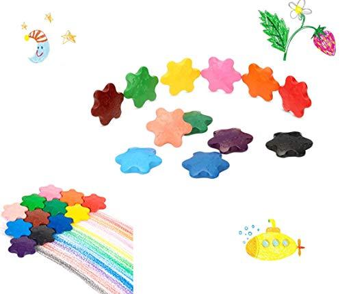 Doyeemei 4 * 3.7CM Crayons pour Tout-Petits Non Toxiques et lavables Crayons Apprendre à Dessiner Stylo Jouets Jouets pour Enfants, bébés, Gar?ons et Filles 12 Couleurs Crayons de Couleur Crayons