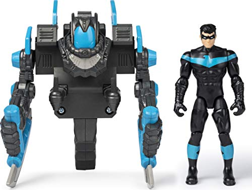 DC Comics BATMAN, 4-Inch NIGHTWING Mega Gear Deluxe Action Figure with Transforming Armor