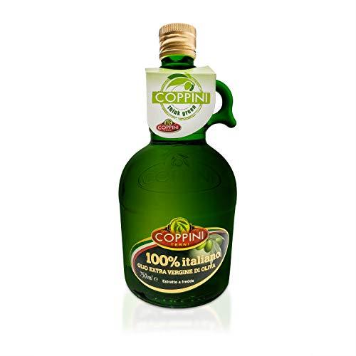 Coppini Terni Olivenöl 750ml - 100% italienisches natives Olivenöl extra - Mildes und fruchtiges Olive Oil aus Umbrien - Premium Olivenöl kaltgepresst