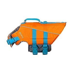 RC Pet Products Tidal Life Vest, Adjustable Dog Life Jacket, Orange/Teal, Large