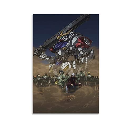 YuFeng_Art_Inn Cuadro de lona con diseño de huérfanos con sangre de hierro y 11 de Gundam para pared, diseño moderno y familiar, 50 x 75 cm