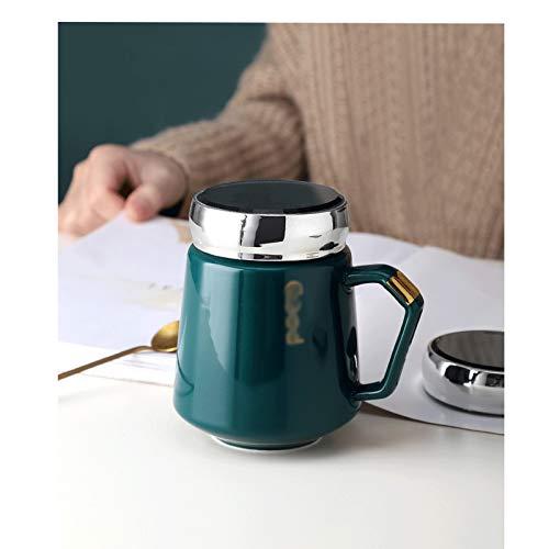 XIAOSAKU Taza de té Taza Multifuncional Taza de café Simple Taza de té de cerámica Atmósfera de Moda Hombres y Mujeres Oficina casera Copa de Agua Taza de café