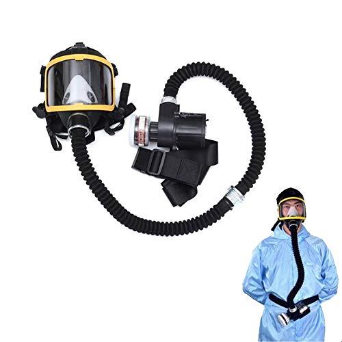 QICLT Atemschutzmaske Vollmaske Elektrische Luftversorgung für Farbspritz, Staub, Chemikalien, Schutz Geruchsminderung Sprüh-, Sanierungs-,Lackier- und Schleifarbeiten