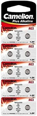AGI Alkaline Knopfzelle CAMELION AG3 LR41 LR736 392 Original Schätzpreis : 6,95 €
