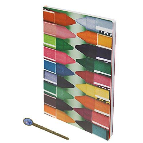 Suave, en blanco, 240páginas A4y Block estudiantes Bellas Artes dibujo Doodling Notebook Sketch Book, 30x 22cm, color Crayon Cover