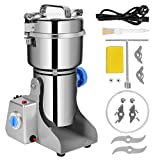 WWahuayuan 800g Electric Grain Grinder Mill Powder LCD Digital Stainless Steel Ultra Grinder Machine Commercial Cereals Grain Mill for Kitchen Herb Spice Pepper Coffee Corn(800g)