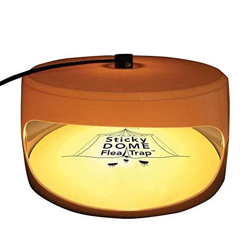 KOBWA Flohfalle, Elektronische Sticky Dome Flohfalle mit 2 Sticky Discs und 2 Glühbirnen, Schädlingsbekämpfung für Haus und Haustiere - 8